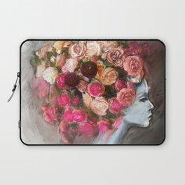 Flower Bloom Girl Laptop Sleeve