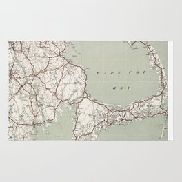 Vintage Cape Cod and Rhode Island Map (1917)  Rug