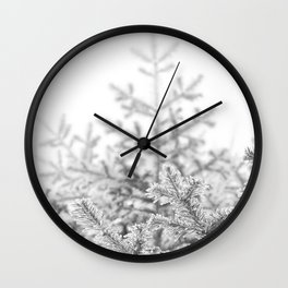 Snow Lift // Ski Chair Lift Colorado Mountains Black and White Snowboarding Vibes Photography Art Print Wall Clock