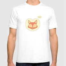 Mr. Foxy White Mens Fitted Tee MEDIUM