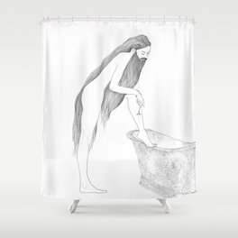 Antoinette's Personal Preference by Blood Bath Cards Shower Curtain