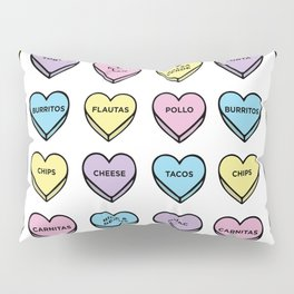 Baesic Candy Hearts - Mexican Food Pillow Sham