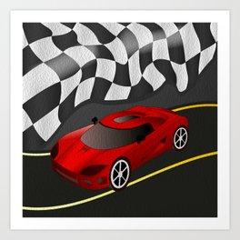 Red Racer Art Print