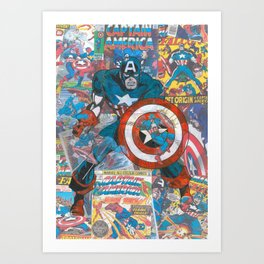 The American Superhero - Comic Art Art Print