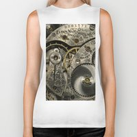 clockwork Biker Tanks featuring Clockwork Homage by DebS Digs Photo Art
