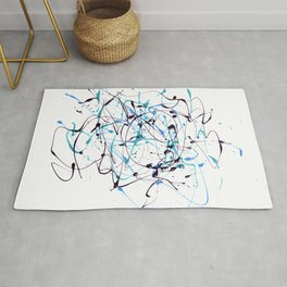 Abstract strokes composition Rug