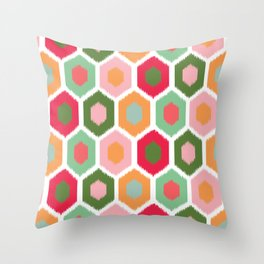 ikat honeycomb tutti fruit #homedecor Throw Pillow