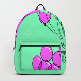 It's a girl, with Balloons and Sparkle Backpack