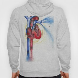 Anatomical Heart, Abstract blood Hoody