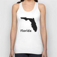 florida Tank Tops featuring Florida by Fabian Bross