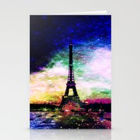 eiffel tower Stationery Cards featuring eiffel tower by haroulita