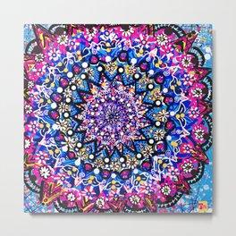 Orb Weaver Mandala Metal Print