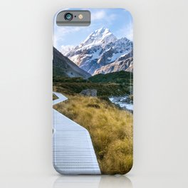 Mt.Cook New Zealand - A hikers dream iPhone Case
