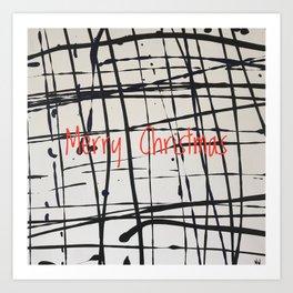 Best foot forward - Merry Christmas Art Print