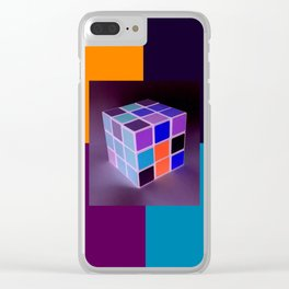 Rubik´s Cube is turning into Dj´s Launchpad Clear iPhone Case