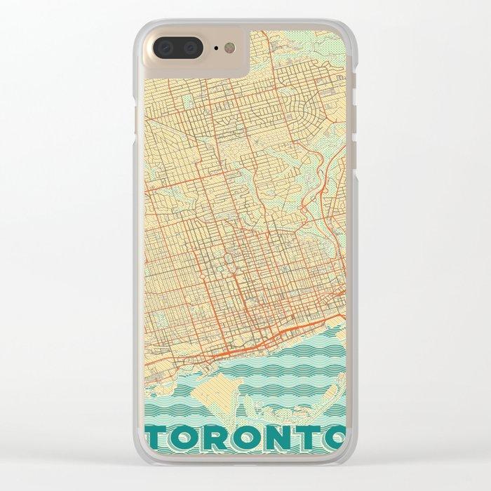 Toronto Map Retro Clear iPhone Case
