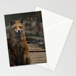 Misty Night Fox Stationery Cards