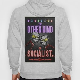 "Vintage ""The Other Kind of Socialist"" Alcoholic Lithograph Advertisement in multi-colors Hoody"