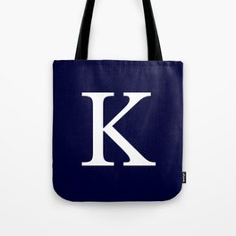 Navy Blue Basic Monogram K Tote Bag