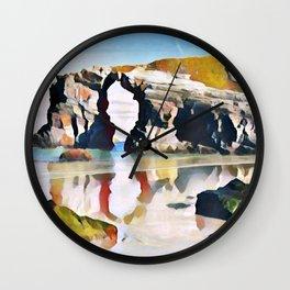 Playa De Las Catedrales Mirrored Elongated Surreal Cavity Wall Clock