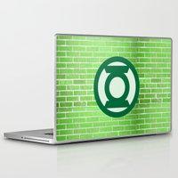 lantern Laptop & iPad Skins featuring Green Lantern by DeBUM