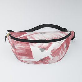 Dusty Rose Tropical Banana Leaves Arrows Design Fanny Pack