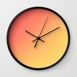 TANGERINE / Plain Soft Mood Color Tones Wall Clock