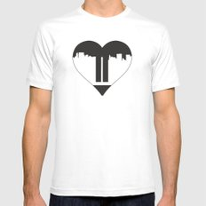 Love Gone MEDIUM White Mens Fitted Tee