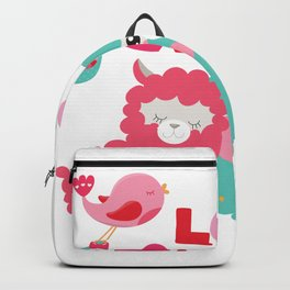 Llama and Llama in Love Backpack