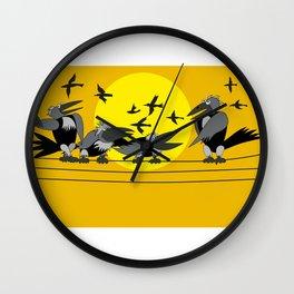 Funny bird Wall Clock