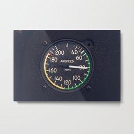 Air Speed Gauge Metal Print