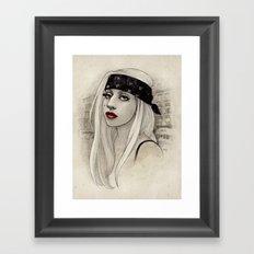 New York Woman born to run you down Framed Art Print