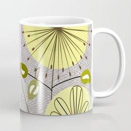 Mid-Century Modern Floral Coffee Mug