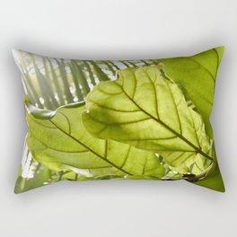 Tropical vibes leaves - Summer Light Rectangular Pillow