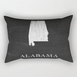 Alabama State Map Chalk Drawing Rectangular Pillow