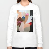 penis Long Sleeve T-shirts featuring Penis Collage by vooduude