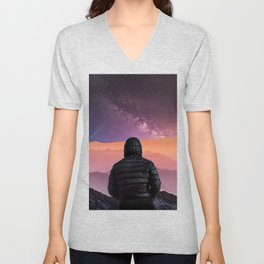 Pink Horizon by GEN Z Unisex V-Neck