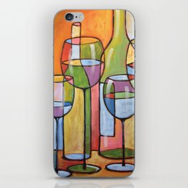 Abstract Art Wine Glasses Alcohol Bar Painting ... Time to Relax iPhone Skin