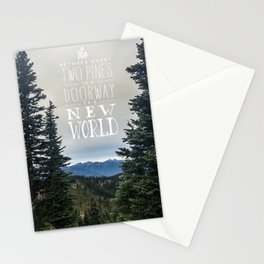 Between Two Pines Stationery Cards