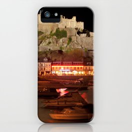 Jersey Night Castle - Mont Orgueil iPhone Case
