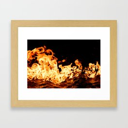 Fire and Water Abstract Framed Art Print