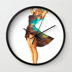 Cosmic Pinup # 2 Wall Clock