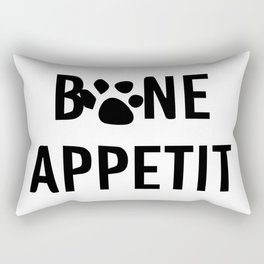 bon appéti Sign, Dog Art, Bone Appetite Sign, Pet Wall Decor Printable, Cute Puppy Decorations, Fun Rectangular Pillow