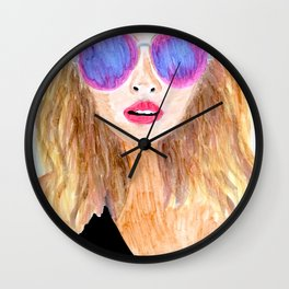 Pool Daze Wall Clock