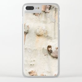 Plane tree camouflage looks bark pattern Clear iPhone Case