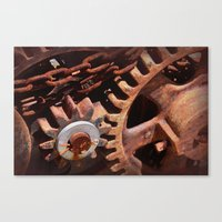 gears of war Canvas Prints featuring Gears by ephemerality