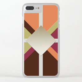 Colors Triangles Clear iPhone Case