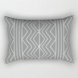 Grey White Arrows Geometric Pattern Rectangular Pillow
