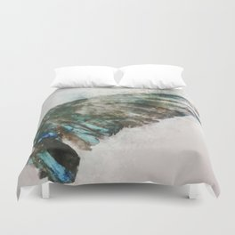 An angel lost its wing Duvet Cover