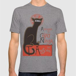 A French Ninja Cat (Le Chat Ninja) T-shirt